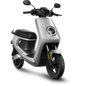 NIU M + Sport elektrinis motoroleris, sidabro spalvos