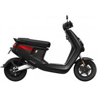 NIU M + Sport elektrinis motoroleris, juodas su raudonomis juostelėmis