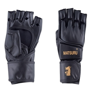 MMA pirštinės MATSURU M juoda sintetinė oda