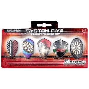 Strėlyčių sparneliai HARROWS SYSTEM 5 TUNING KIT 5 rinkiniai po 3 vnt.
